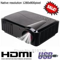 Wholesale Native 1280x800pixels HDMI LED Projector Quality Image Compatible For PS Xbox DVD Computer from china suppliers
