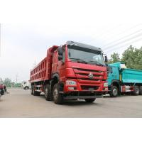 China Sinotruck Howo 8x4 12-Wheel Dump Truck Capacity 40ton With red color for sale