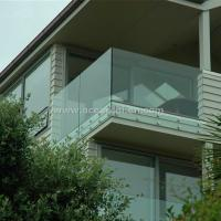 Wholesale Safety Frameless Toughened Glass Railing withStainless Steel Standoff from china suppliers