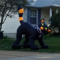 Wholesale Black Inflatable Cat, Halloween Event Inflatable Cat Decoration,Inflatable Cat Costume from china suppliers
