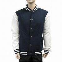 China Navy-white Men's Casual Shirt Jacket with Front Welt Pockets on sale