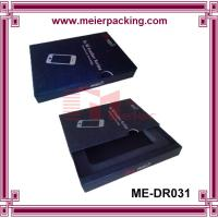 Wholesale Drawer design mobile phone packaging box, black cell phone paper box with insert ME-DR031 from china suppliers