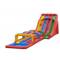 Quality Three Lanes Inflatable Water Slide, Jumbo Water Slide Inflatable For Adults for sale
