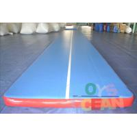 China Inflatable Durable Yoga Tumbling Mats / Gymnastics Air Track For Gym Practice Equipment on sale