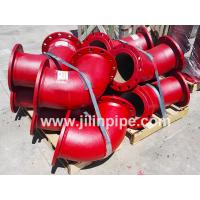 Quality Ductile iron pipe fittings, double flanged bends for sale