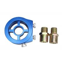 Wholesale Aluminum Racing Car Oil Pressure Gauge , Blue Oil Filter Sandwich Adapter from china suppliers