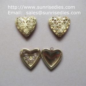 Wholesale Filigree copper heart photo lockets wholesale, fillagree brass heart locket from china suppliers