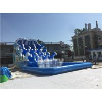 Buy cheap Outdoor Wave Inflatable Water Pool Slip N Slide / Water Sport Games PVC from wholesalers
