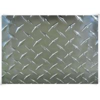 Wholesale Alloy 5052 H32 Aluminum Tread Plate Silver / Black Color With Checkered Surface from china suppliers