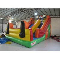 Funny Inflatable Clown Double Water Slide , Waterproof Standard Inflatable Dry Slide for sale