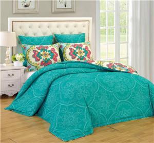 China Printed Comforter Set 6pcs Reversible Bedding Set Reactive Printed Comforter Pillow Full/Queen/King on sale