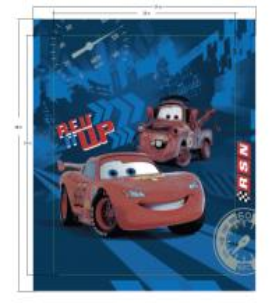 Cartoon Cars Pattern Disney Textiles Coral Fleece Memory