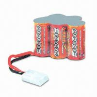 Wholesale High-power 6.0V/3,000mAh NiMH Battery Pack, Used for Receiver, with Futaba and Tamiya Plug from china suppliers