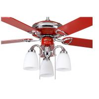 China Red Decorative Energy Saving Outdoor Ceiling Fan Light Kits With Remote Controller on sale