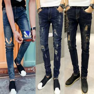 Buy cheap black shiny mens super skinny stretch jeans with pockets