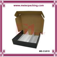 Quality Popular Top Design 3 bottle wine boxes/Truck end wine corrugated box ME-CUR015 for sale