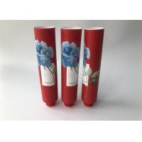 China Milk White Red Full Version Of Rose Empty Lotion Tubes With Octagonal Cap for sale