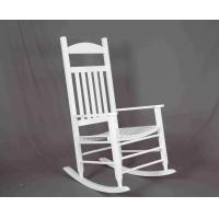Wholesale White Rocking Chair Wooden Outdoor Furniture Hollow Design For Relaxing from china suppliers