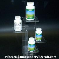 Hot Selling Transparent Acrylic Display Stand For Health Supplements for sale