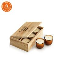 China Unfinished Cardboard Candle Boxes , Wood Candlestick Wooden Candle Holder on sale