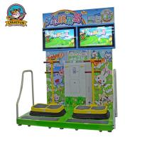 Jumping Island Type Coin Operated Amusement Machines Colorful Fluorescent Light