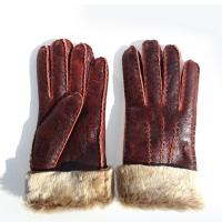 Wholesale Fashion Lady's Double Face Sheep Skin Winter Glove from china suppliers