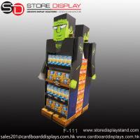 Wholesale creative eye-catching double sides floor display shelf rack from china suppliers