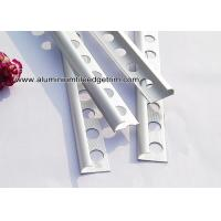 China Ceramic Wall Rounded Corner Aluminium Tile Edge Trim / Profiles Silver Matt for sale