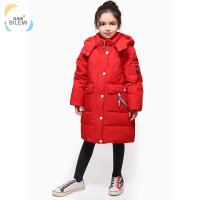 Kids Clothing Suppliers China Long Coat Winter Latest Girl Outdoor Children Hooded Down Jacket for sale