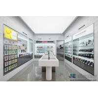 Wholesale Cosmetics Store Interior Design In wall Display Cabinets with Glass shelves and Wood counters by LED light from china suppliers
