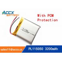 Wholesale 115050 105050 3200mAh 3.7v lithium polymer battery OEM rechargeable lipo battery from china suppliers