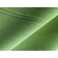 Quality Green Yellow Dyed Fabric Cloth Linen Cotton Blend for Short Trousers / Skirts / Pillows for sale