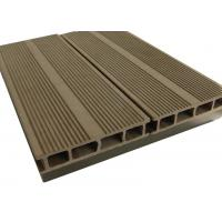 China Walnut Color WPC Composite Decking / Recyclable Walkways Deck For Garden on sale