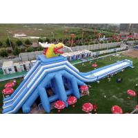 China White / Blue / Yellow Inflatable Backyard Floating Water Park With Random Compose Unit on sale
