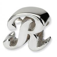 Wholesale Fancy Bead Charm Sterling Silver Letter R / I / H / N  Bracelet Bead from china suppliers