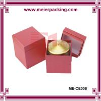 Quality Candle box with 2mm grey paper+157g coated paper/Custom candle box matte finished ME-CE006 for sale