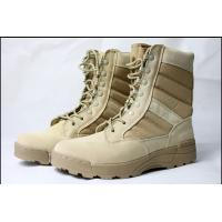 China Custom Real Rubber Desert  Military Tactical Boots For Men , Desert Combat Boots on sale