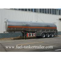 Quality 40 Ton Manganese steel Vacuum Tank Trailer For Fuel Petrol Delivery for sale