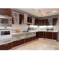 Wholesale High Gloss Lacquer MDF Kitchen Cabinets Blum / Dtc Hardware With Countertop Sink / Faucet from china suppliers
