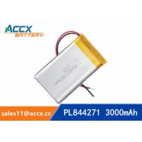 Quality 844271 pl844271 3.7V 3000mAh li-ion battery rechargeable polymer batteries for sale