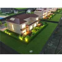 Wholesale 1/50 Scale Single Villa 3Dmodel Miniature Maquette With Warm Light from china suppliers