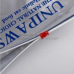 slider zipper for pet food bag/Pet Dog Food Plastic Bags, pet plastic animal feed dog food bag, Packaging Dog Food