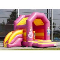Wholesale Comercial Inflatable Combo With Mini Dry Slide / Princess Print Moonwalk Bounce House from china suppliers