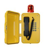 Wholesale Heavy Duty Industrial Outdoor Weatherproof TelephonesWith Warning Light from china suppliers