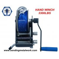 Wholesale Hand Winch 1500kg winch Strap/Webbing/Dyneema Rope 2speed- Boat Car Marine Trailer from china suppliers