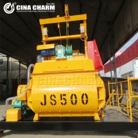 Wholesale js500 twin shaft electric concrete mixer from china suppliers