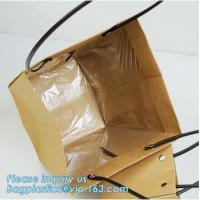 Buy cheap Logo Personalized Portable Bouquet Flower Carrier Gift Packing Paper Bag,Kraft from wholesalers