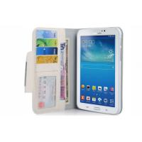 Buy cheap White Wallet Type Tablet PC Leather Case with 7 Card Holders For Samsung Galaxy Tab 3 from wholesalers