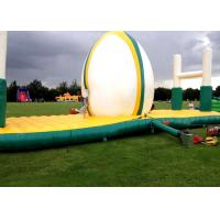 Wholesale PVC Tarpaulin Inflatable Interactive Games Green And White Color 10.07x3.7m from china suppliers