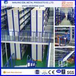 Steel Mezzanine Racking / Storage Racking 2-3 Layers Steel Floor with white blue orange colors